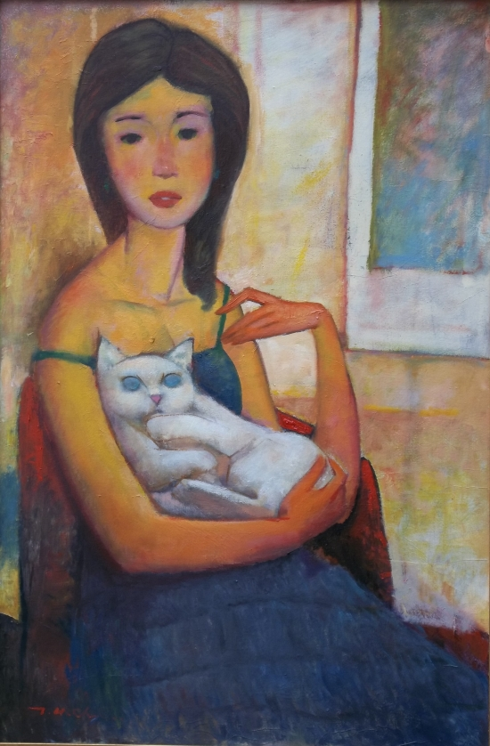 Girl Holding A Cat picture