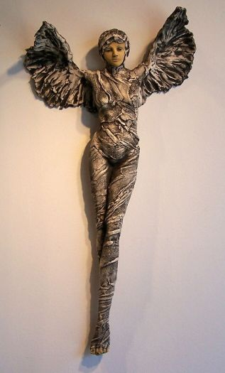 Wrapped Wing Figure  (sold) picture